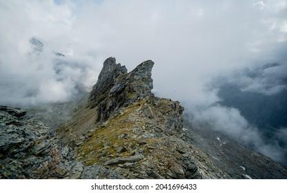 Aerial View of Austrian Alps in Summer from Defregger Haus near the Summit of Grossvenediger - Shutterstock ID 2041696433