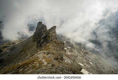 Aerial View of Austrian Alps in Summer from Defregger Haus near the Summit of Grossvenediger - Shutterstock ID 2041696436