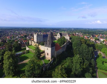 Aerial view of the Bad Bentheim castle in Germany