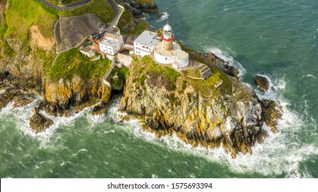 Aerial view of Baily Lighthouse, Howth North Dublin