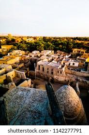Aerial view to Balat old town, Dakhla oasis, Egypt