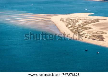Aerial View Banc D Arguin Near Arcachon Stock Photo Edit Now