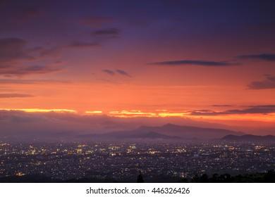 Aerial View Bandung City