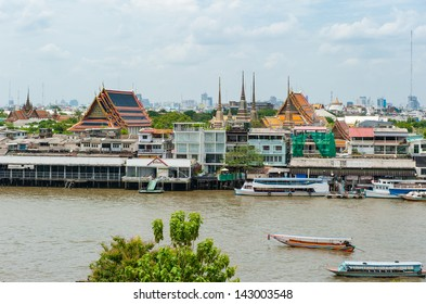 aerial view of Bangkok from Wat Arun, Bangkok, Thailand
