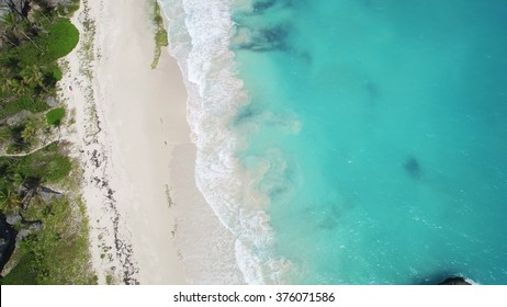 Aerial View Barbados Beach