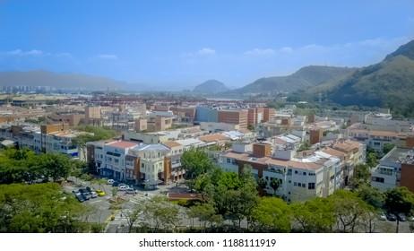 Aerial view of Barra da Tijuca, Rio de Janeiro
