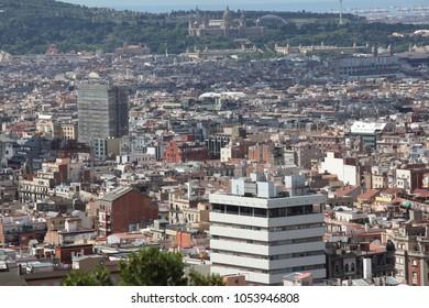 Aerial view of Barselona, Spain