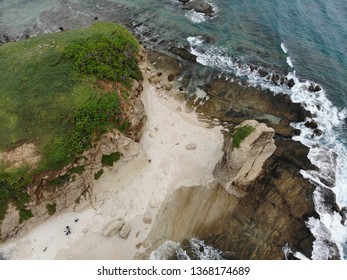 Aerial view of Batu Payung Beach Lombok Indonesia