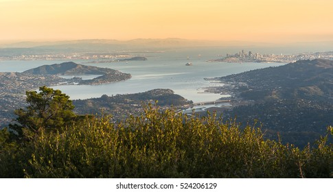 Aerial view of Bay Area from East Peak at Mt.Tamalpais