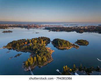 Aerial view of Bay of Finland, Espoo Helsinki