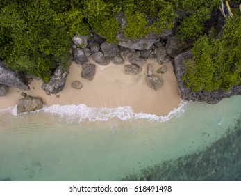 Aerial view of a beach