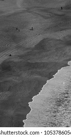 Aerial view of the beach Black and White