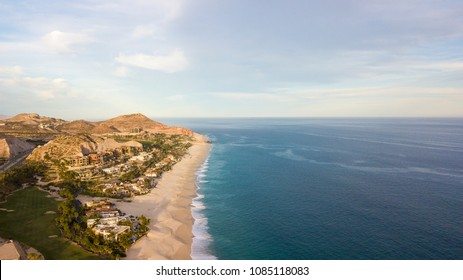 Aerial view beach in Cabo San Lucas in Baja California Sur in Mexico