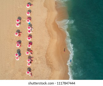 Aerial view of a beach in Cape May, New Jersey, USA
