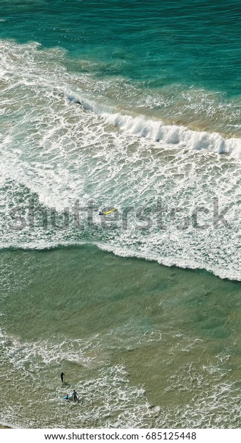 Aerial View Beach Gold Coast Australia Stock Photo Edit Now