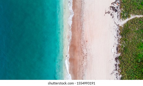 Aerial view of a beach in South Florida