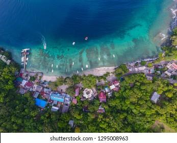 Aerial view beach in Weh Island, Sabang, Indonesia