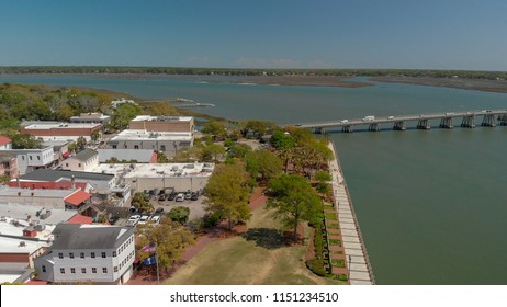 Aerial view of Beaufort, SC.