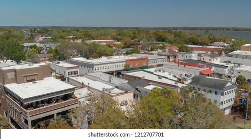 Aerial view of Beaufort, South Carolina.