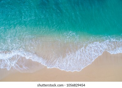Aerial view of a beautiful beach.