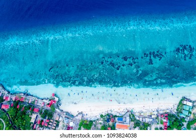 Aerial View of Beautiful Beach with Turquoise Water, Tanjung Bira South Sulawesi Indonesia