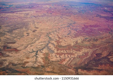 Aerial view of the beautiful Canyonlands National Park at Utah