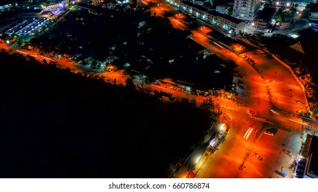 Aerial view of beautiful city landscape at Thailand