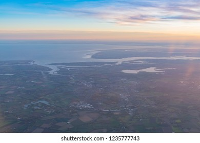 Aerial view of the beautiful Colchester area at United Kingdom
