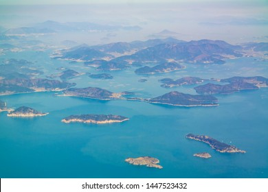Aerial view of the beautiful Geoje Island at South Korea