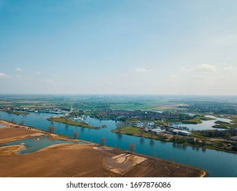 Aerial view of the beautiful landscape of the Netherlands.