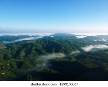 Aerial view, Beautiful nature view of Northern laos.
