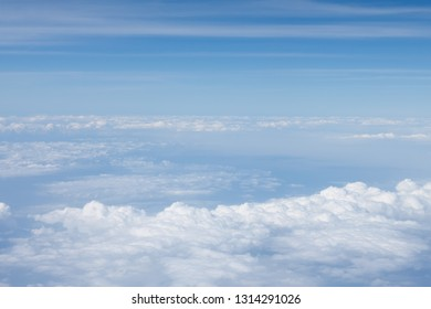 Aerial view of beautiful sky and cloudscape background.