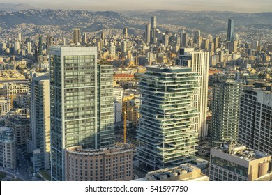 Aerial View of Beirut Lebanon, City of Beirut, Beirut cityscape