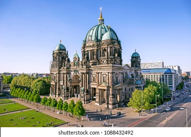 Aerial view of Berlin Cathedral (Berliner Dom) in Berlin, Germany