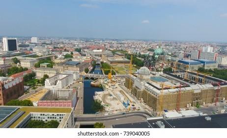 Aerial view of Berlin skyline, Germany