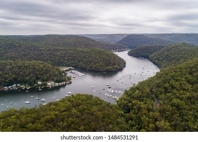 Aerial view of Berowra Waters, New South Wales