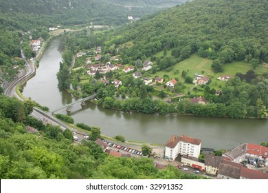 Aerial view of Besancon