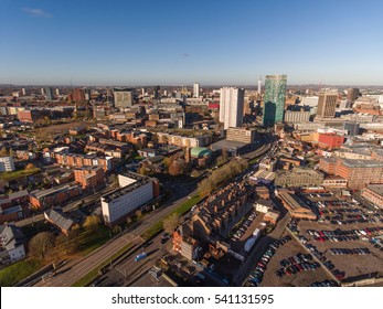 Aerial view of Birmingham city centre, UK.