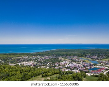 Aerial View Of The Blue Mountains, Ontario canada