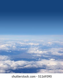 Aerial view of the blue sky