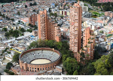 Aerial view to Bogota city