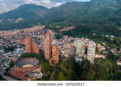 Aerial view of Bogota. Colombia