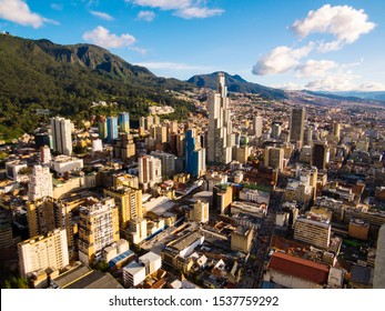 Aerial view of Bogota - Colombia with mountains