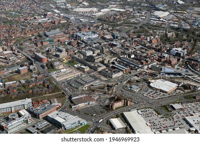 aerial view of Bolton town centre