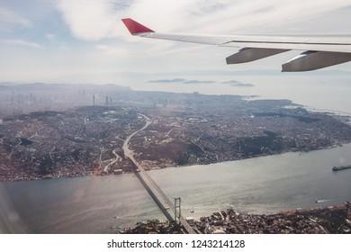 aerial view of bosphorus bridge in Istanbul, Turkey