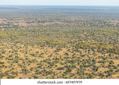 Aerial view of Botswana