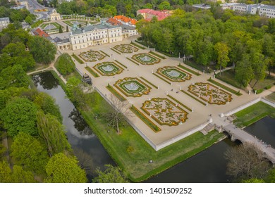 Aerial view of Branicki Palace in Bialystok, Poland