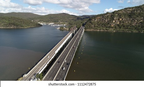 aerial view of Bridge over the Hawksbury River, NSW Central coats