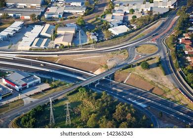 Aerial view of Brisbane, Australia