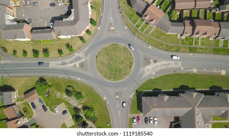 Aerial view of British suburbs